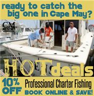 Fishing Charter Trips Aboard the Vessel Common Sense in Cape May NJ