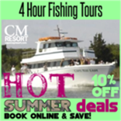 "Experience a 4 Hour Fishing Trip Aboard the famous Vessel "" Cape May Lady"" in Cape May NJ."