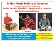 Hindustani Vocal Recital by Pandit Shounak Abhisheki