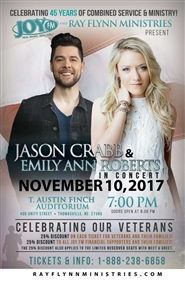 Jason Crabb & Emily Ann Roberts In Concert - General Admission