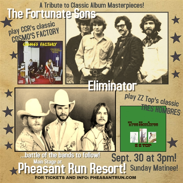 9/30/18 FORTUNATE SONS with The Eliminator Band