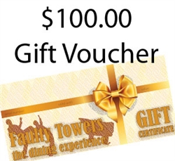$100.00 Faulty Towers Gift Certificate