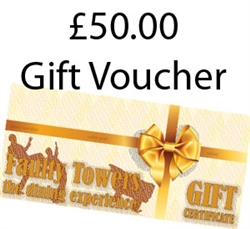$50 Faulty Towers Gift Certificate