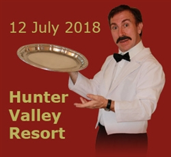 Faulty Towers at Hunter Valley Resort, Pokolbin; 12 Jul '18