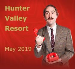 Faulty Towers at Hunter Valley Resort, Pokolbin; Thu 30 May '19